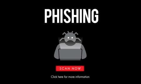 Scam Virus Spyware Malware Antivirus Concept Stock Photo