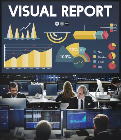 hectic: Visual Report Percentage Business Chart Concept