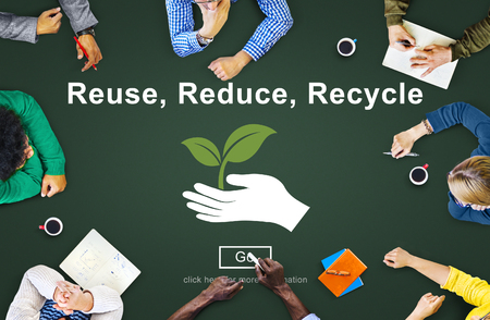 reduce: Reuse Reduce Recycle Sustainability Ecology Concept