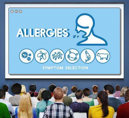 sensitivity: Allergy Hypersensitive Sensitivity Healthcare Infection Concept