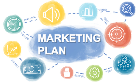 marketing plan: Graphic Business Marketing Plan Concept