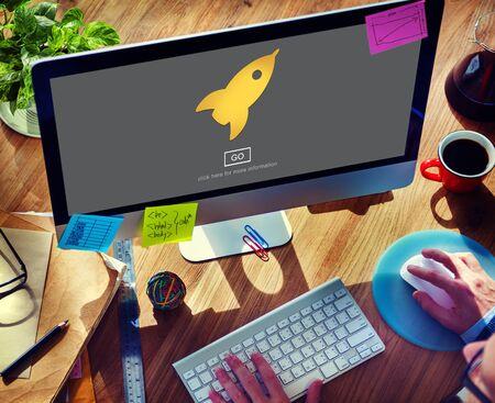 aspiration: Launch Aspiration Startup Innovation Concept