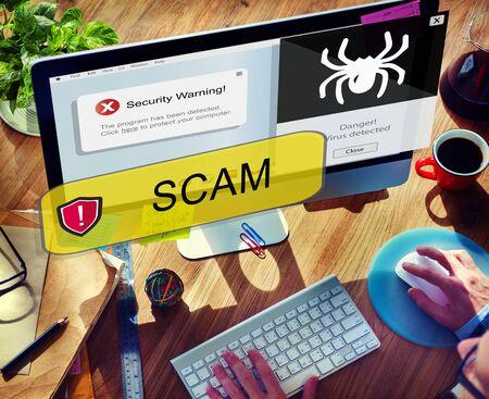 web scam: Businessman Communicaiton Connected Devices Concept