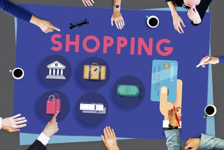 spending: Shopping Buying Commerce Purchase Spending Concept