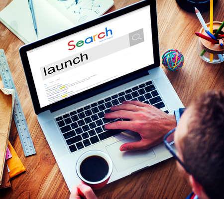 optimisation: Businessman Connect Internet Search Website Concept