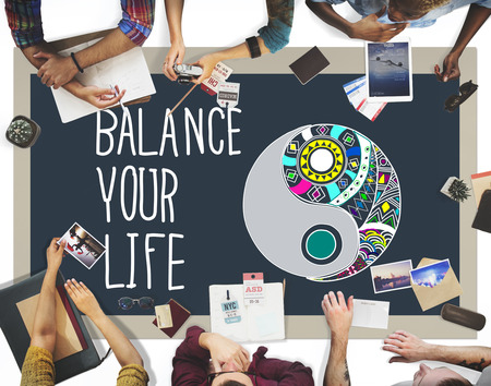 stabilize: Balance Your Life Stability Work-Life Concept Stock Photo