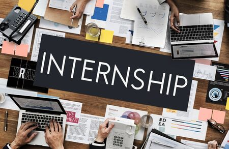 temporary: Internship Management Temporary Position Concept