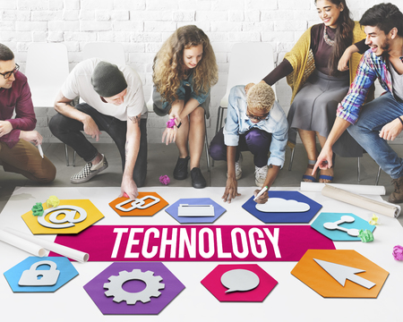 Modern Technology People Graphic Concept Stock Photo