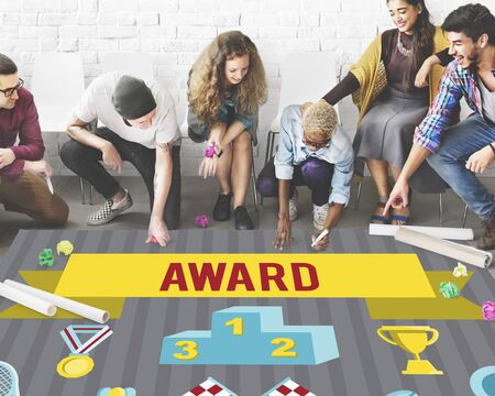 award ceremony: Award Ceremony Certification Challenge Win Concept