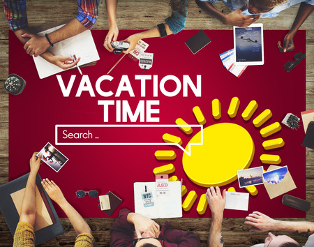 Vacation Time search bar concept