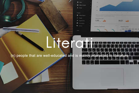literate: Literati Literature Highly Educated Literate Knowledge Concept
