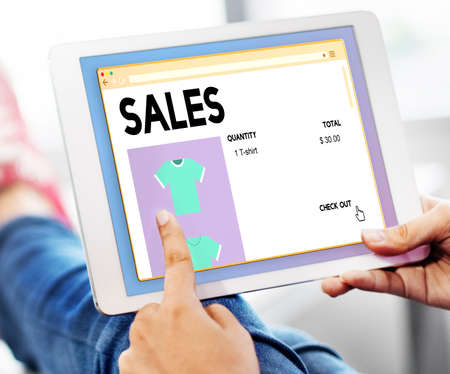 margen: Sales Commerce Income Profit Margin Retail Sell Concept