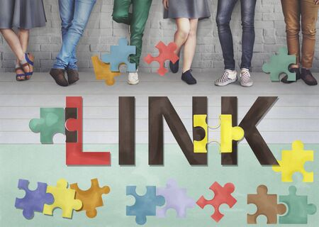 linkage: Link Connection Linkage Network Online Concept