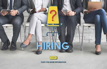 career plan: Hiring Human Resources Career Plan Concept Stock Photo