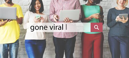 Gone Viral Cyber Connection Sharing Social Concept Stock Photo