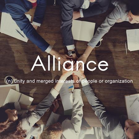 coalition: Alliance Team Combine Corporate Partnership Concept