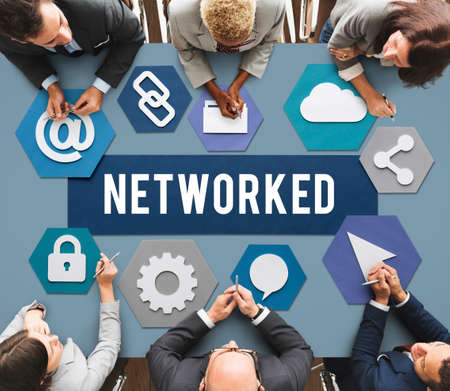 diversity domain: Networked Networking Internet Connection Concept Stock Photo