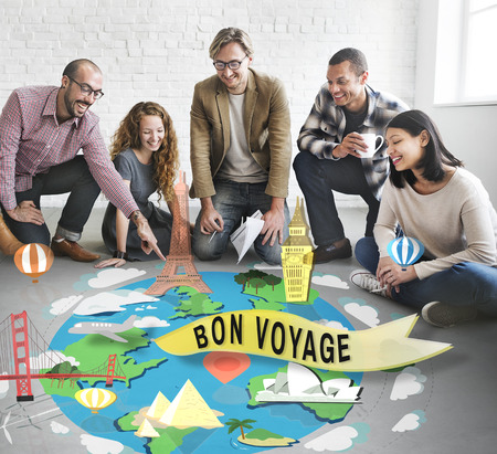 Bon Voyage Farewell Greeting Journey Travel Trip Concept