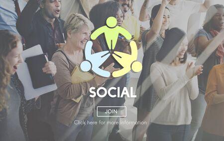socialization: Social Socialize Society Unity Community Global Concept