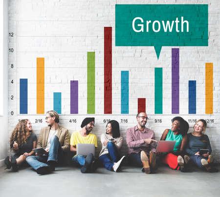 buildup: Growth Progress Development Icon Concept