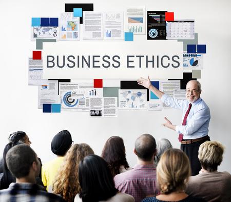 비즈니스 윤리 정직 성실성 개념