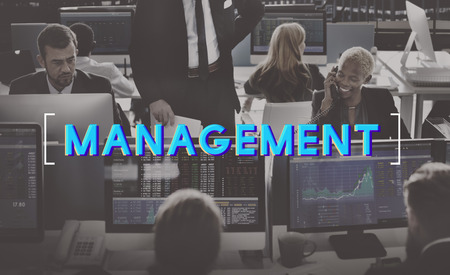 african business: Management Business Controlling Organization Graphic Concept Stock Photo