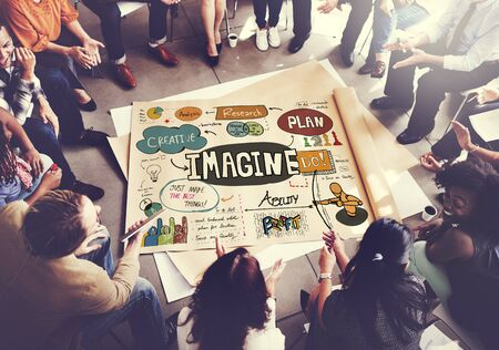 Imagine Imagination Expect Creative Sketch Concept