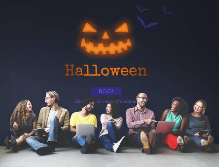 jack o' lantern: Jack O Lantern Halloween Symbol Concept Stock Photo