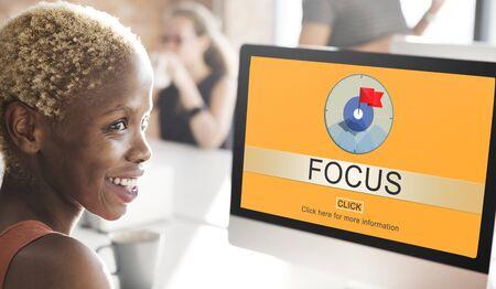 focal point: Focus Determine Focal Point Spotlight Vision Concept