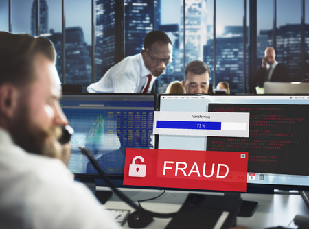 spam: Fraud Hacking Spam Scam Phising Concept Stock Photo