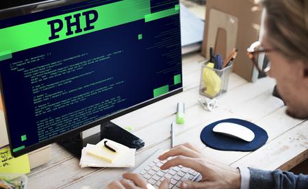 PHP のコーディング コンピューター CSS データ デジタル関数概念