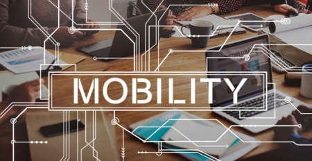 contemporary: Mobility Mobile Contemporary Connection Concept