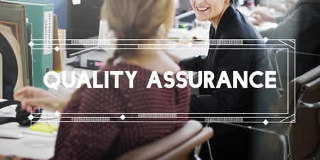 Quality assurance concept with background
