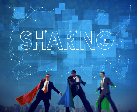 joining forces: Sharing Communication Link Networking Connect Concept