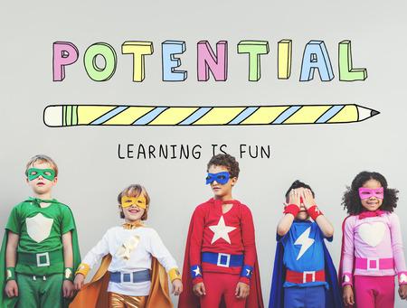 Onderwijs Leren is leuk voor kinderen Graphic Concept Stockfoto - 59420279