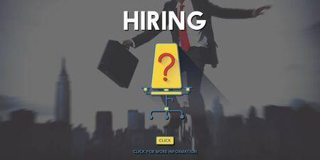 glum: Hiring Human Resources Career Plan Concept Stock Photo