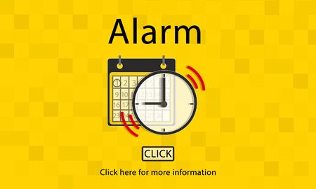 notice of: Alarm Alert Important Notice Schedule Concept Stock Photo
