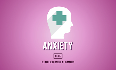 nervousness: Anxiety Medicine Disorder Angst Concept