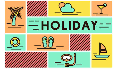 break: Holiday Break Festival Journey Relaxation Travel Concept