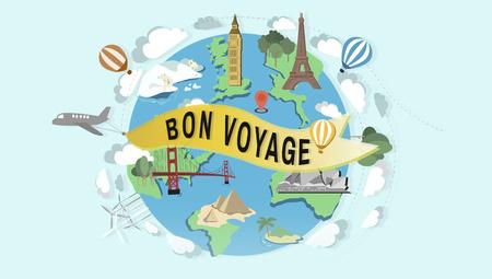 ボン ボヤージュ送別挨拶の旅旅行旅行の概念
