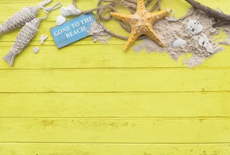copyspace: Summer Mockup Copyspace Wooden Sand Blank Concept