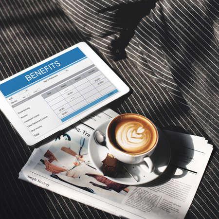 news values: Retirement Plan Insurance Benefits Healthcare Concept