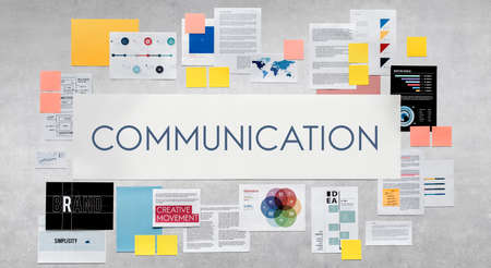 discussion: Communication Communicate Discussion Conversation Concept Stock Photo