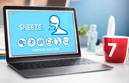 estornudo: Estornudar Trastorno Alergia Enfermedad concepto del cuidado médico