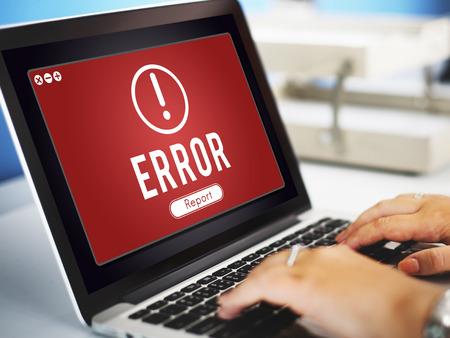 Fout Netwerk Probleem Technology Software Concept