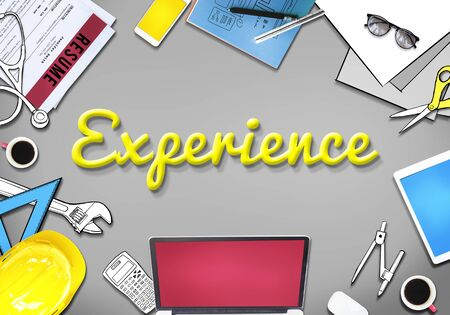 expertise: Experience Expertise Encounter Involvement Concept Stock Photo