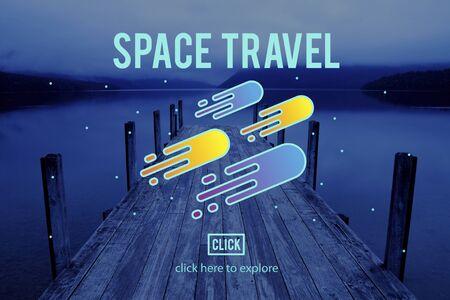 exploration: Space Observation Travel Astronomy Exploration Concept