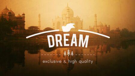 creer: La aspiración sueño creas objetivo concepto imaginación