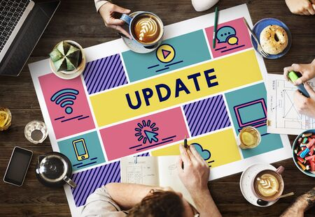 newest: Update Newest Content Data Information Concept Stock Photo
