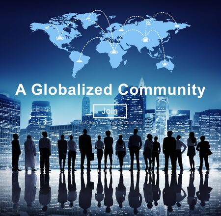 A Globalized Community Social Networking Society Concept Stock Photo